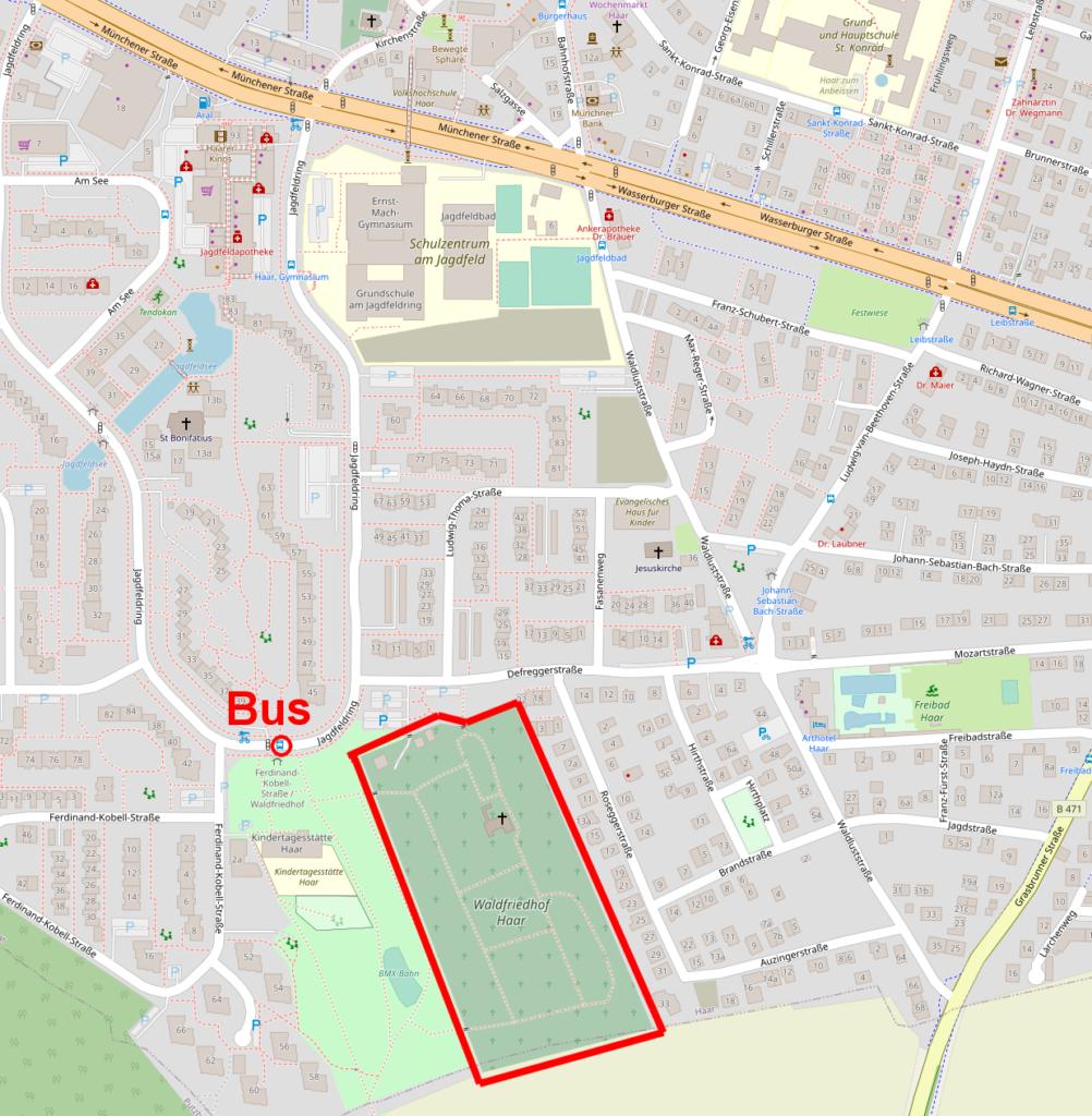 Map Waldfriedhof Haar