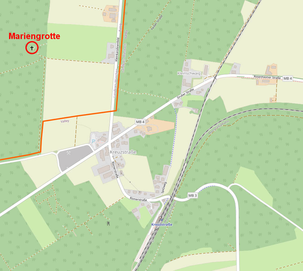 Map Kreuzstraße Mariengrotte